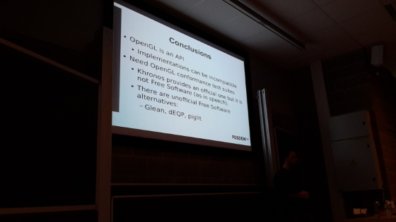 FOSDEM 2015: Test OpenGL drivers with free open source tools