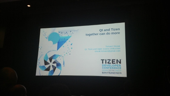 Qt for Tizen at Tizen Developer Conference 2014