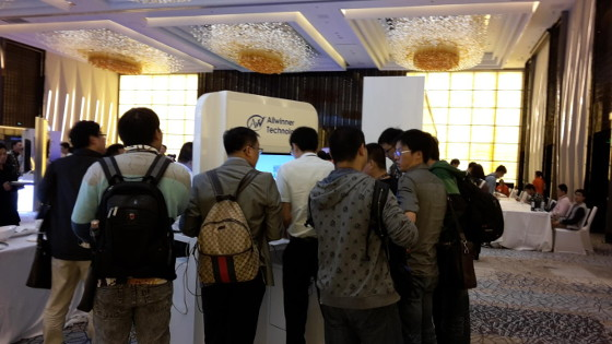 Allwinner Technology booth at Tizen Developer Summit 2014