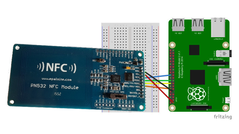 Wiring PN532 NFC and RFID module to Raspberry Pi